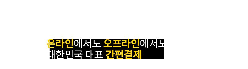 온라인에서도 오프라인에서도 대한민국 대표 간편결제
